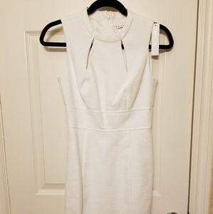 Trina Turk white sheath dress, size 0, NWT